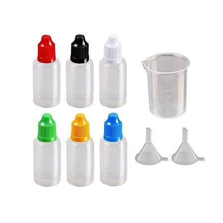 Toyvian - 15 Botellas cuentagotas de plástico vacías y exprimibles ...