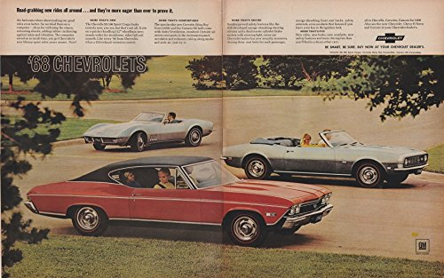 Stingray Convertible (1968 CHEVROLET CHEVELLE SS 396 SPORT COUPE, CORVETTE STING RAY CONVERTIBLE & CAMARO SS CONVERTIBLE