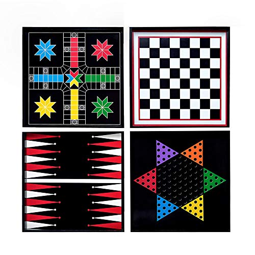 - PINE AND PAINT LLC Classic Wood Game Boards Wall Hanging Set of Four with Playing Pieces