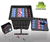 The Clone King 36 Site Cloning Machine Utilizes An Aeroponic Cloning Method To Make Successful Cloning Quick And Easy. Plant Cuttings Are Suspended In Mid-Air Where They Are Sprayed Constantly By A Highly-Oxygenated Aeroponic Mist. Roots Will...