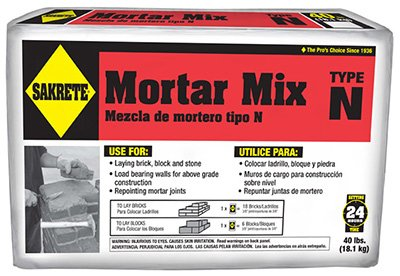 SAKRETE of North America 65300039 Type N Mortar Mix, 40 lb by Sakrete