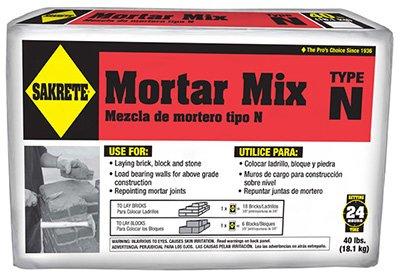 - Sakrete 65300039 40 lbs. Type N Regular Strength Mortar Mix