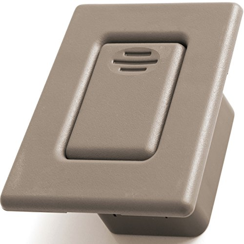 OxGord Folding Seat Back Latch for Select GM Vehicles - Replaces 88937926 Rear Bucket Row Release Lock Button, Beige Cover (Bucket Beige)