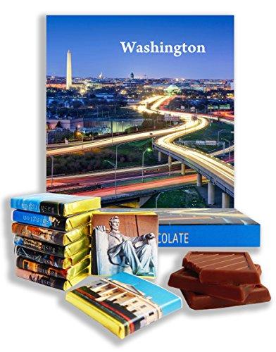 DA CHOCOLATE Candy Souvenir WASHINGTON Chocolate Gift Set 5x5in 1 box - Lincoln Road 10