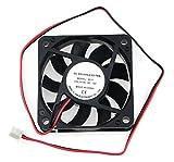 60 x 60 cooling fan - BXQINLENX 6015 Dc12v Quiet Brushless Cooling Fan Miniature Cooling Fans 2pin 60x60X15mm 9 Blade (3 PCS)