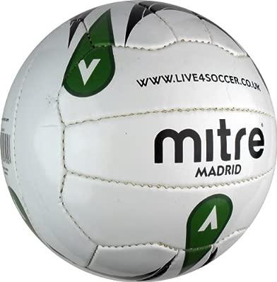 Mitre Madrid Live4 - Balón de fútbol, color blanco, talla 3 ...