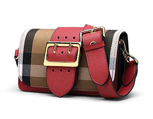 Hombro Las Red De Bolso Pequeño Bolsa De Bolso Cuero Señoras De Cuadrado De Moda Bolso TqS8I