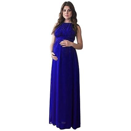 Vestido para embarazada azul