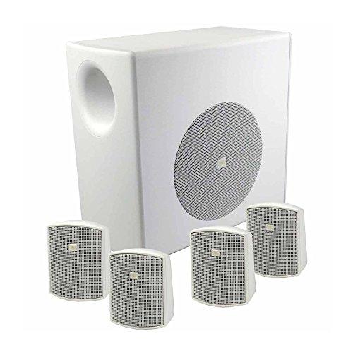 Profile System 1 Pa - JBL C50PACK-WH Surface Mount Subwoofer & Mini-Satellite Loudspeaker System, White
