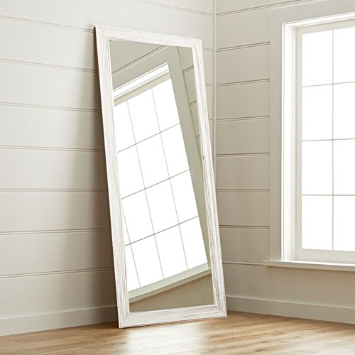 Bedroom Full Size Vanity - BrandtWorks BM018T Coastal Wood Floor Mirror, 70.5 x 31.5