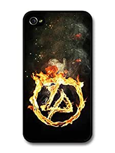 AMAF ? Accessories Linkin Park Burning Logo Flames Fire case for iPhone 4 4S