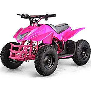 Outdoor Kids Children Titan 24V Pink Mini Quad ATV Dirt Motor Bike Electric Battery Powered