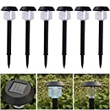 MAZIMARK--6 LED Solar Power Outdoor Path Light Spot Lamp Yard Garden Lawn Landscape White