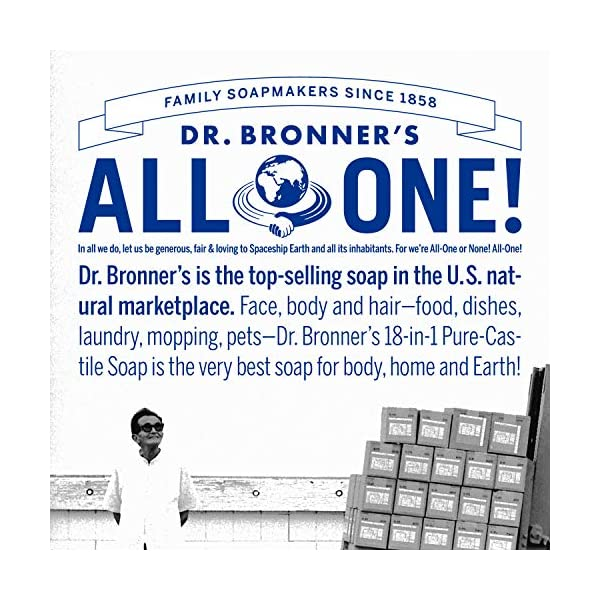 Dr. Bronners – Magic Pure-Castile Bar Soap Organic Peppermint – 5 oz. by DR. BRONNER'S