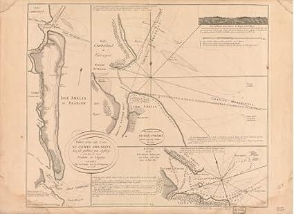 Where Is Amelia Island Florida On The Map.Amazon Com Map Of Isle Amelia En Floride Amelia Island Florida