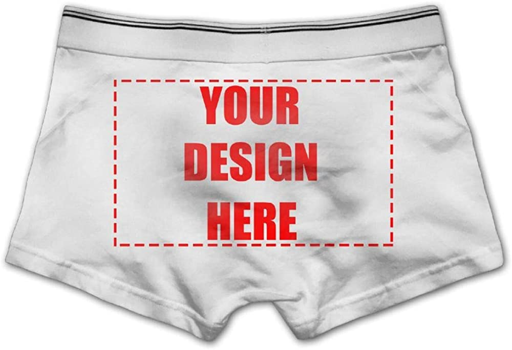 Custom Personalized Mens Boxer Brief Underwear Add Your Own Image Shorts
