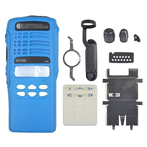 Blue Replacement Repair case Housing cover for Motorola HT1250 limited-keypad portable Radio two way Handheld Walkie Talkie