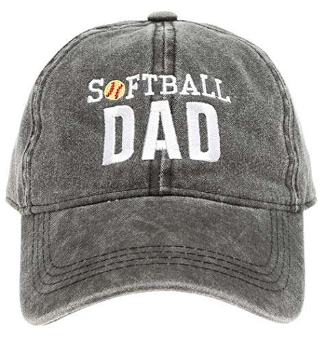 - MIRMARU Baseball Dad Hat Vintage Washed Cotton Low Profile Embroidered Adjustable Baseball Caps (Softball Dad - Black)