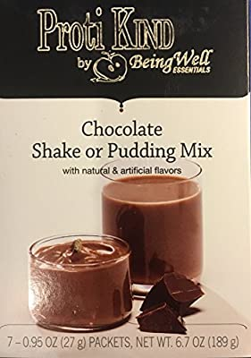 Proti Kind Chocolate Shake or Pudding Mix, 7 Servings, 15g Protein Per Serving