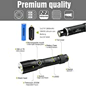 AODINI Flashlight,Ultra Bright High Lumen LED Tactica Flashlight Rechargeable/Waterproof,Mini Handheld Flashlight for Outdoor Cycling Hiking Camping Emergency