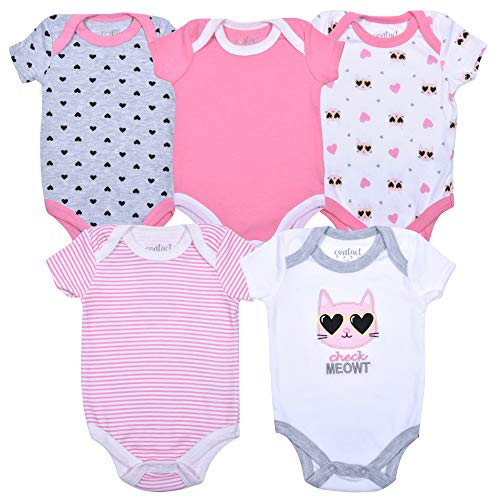 Contact 5-Pack Newborn Baby Girl Bodysuit Creepers
