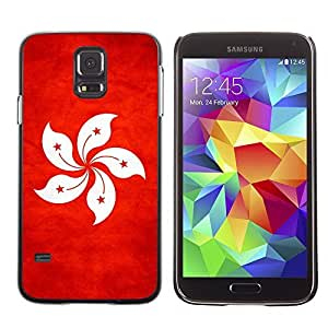 LJF phone case Shell-Star ( National Flag Series-Hong Kong ) Snap On Hard Protective Case For Samsung Galaxy S5 V SM-G900