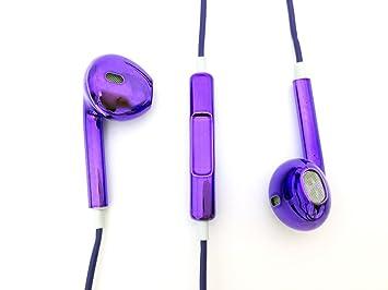 d9263d61595 Metal casebomb audifonos colorido púrpura auriculares para Apple iPhone  iPod Suffle Apple iPhone 4 4s 5 subprocesos 5S 6s 6 6s plus ...