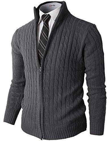 Zip Front Mock Neck Sweater - 6
