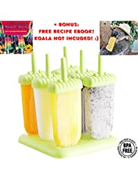 Take 6 Popsicle Molds Bpa Free, Popsicle Molds Tupperware, Easy to Use, Homemade Popsicle Molds in 2 colors,Popsicle... discount