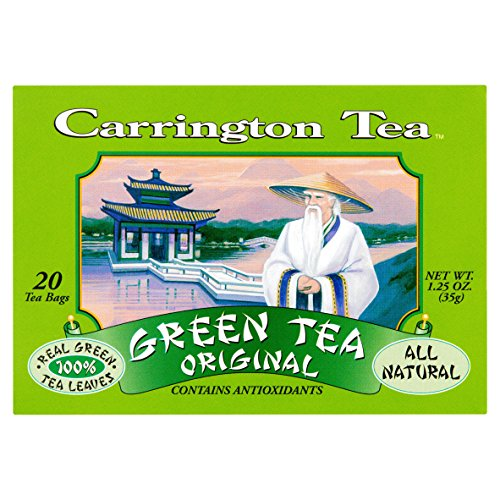 Carrington Tea, Green Tea, Original, 20 Tea Bags (Pack of 6)