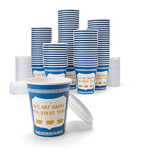 NY Coffee Cup (100 paper cups with lids) by (Solo Coffee)