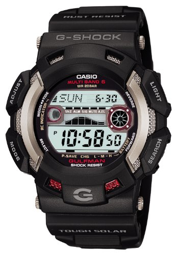 CASIO G-SHOCK GULFMAN Tough Solar Radio Controlled MULTIBAND6 GW-9110-1JF (Japan Import)]()