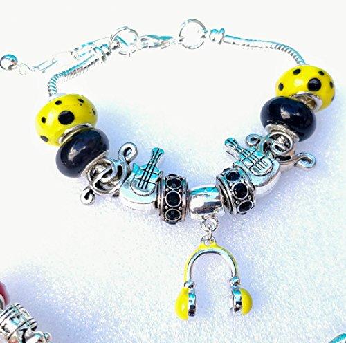 Headphones Snake Chain Charm Bracelet