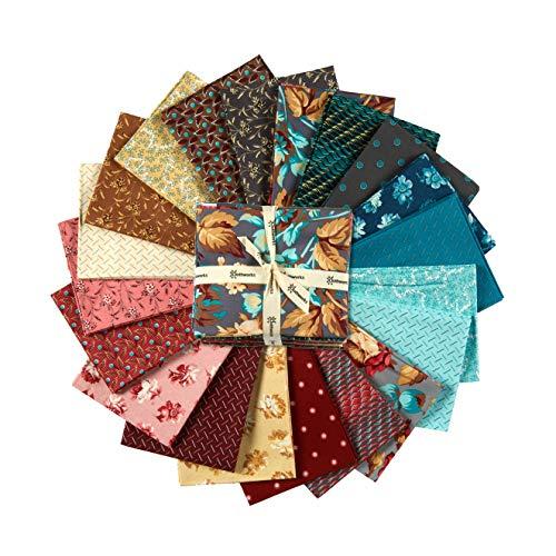 Clothworks Around The Roses Fat Quarter Pack 20 Pcs