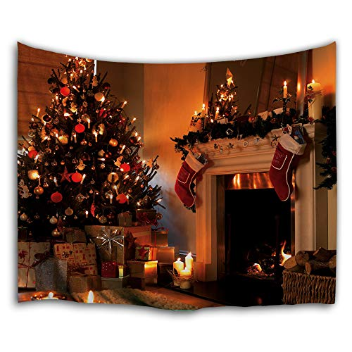 (WAOU Wall Hanging Tapestries Wall Tapestry for Home Decor,High Definition Digital Printing Design,Christmas Stockings Fireplace Tapestry - 59