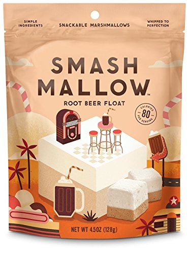 Root Beer Float Dessert - Smashmallow Snackable Marshmallows Root Beer Float (Pack of 4)