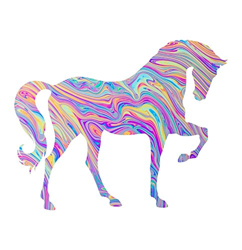 Vinyl Junkie Graphics Horse Custom Sticker Graphic Decal for Notebook car Truck Laptop Many Color Options (Tye die)