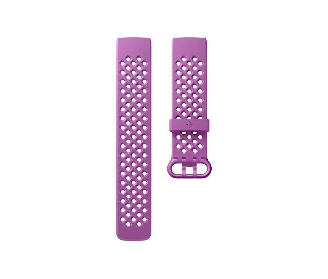 Fitbit Charge 3 Accessory Band, Official Fitbit Product, Sport, Berry, Large by Fitbit