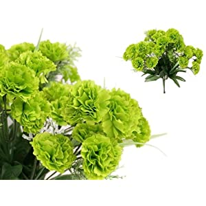 Efavormart 252 Mini Artificial Carnations for DIY Wedding Bouquets Centerpieces Arrangements Party Home Decorations - Lime Green 3