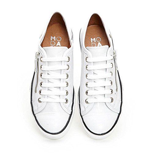 Mujer Para Zapatillas Moda Blanco Pelle In Zqg64W7S