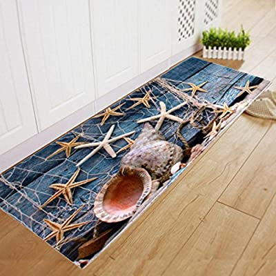 Makaor Floor Non Slip Mat Dining Room Carpet Shaggy Soft Area Rug Bedroom Rectangle Floor Mat Indoor/Outdoor 40CM120CM