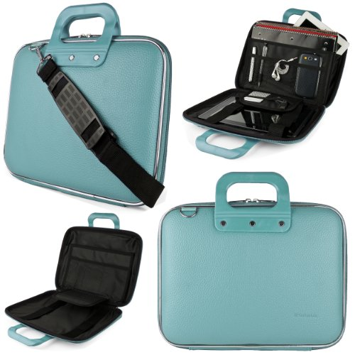 SumacLife Cady Briefcase Messenger Bag for Lenovo 13.3 to 14 inch Laptops (Blue)
