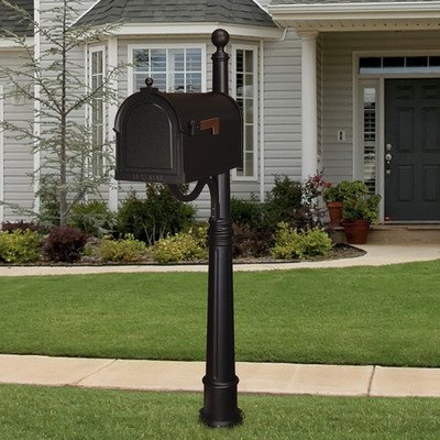 Berkshire Curbside Mailbox with Ashland Mailbox Post Unit -