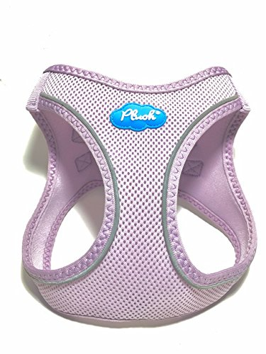 Plush Step-in Air Mesh Harness - 3 New Colors (XS, Lavender Frost) Air Mesh Dog Harness