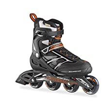 Rollerblade Men's Zetrablade 80 Skate, Black/Orange, US Size 11