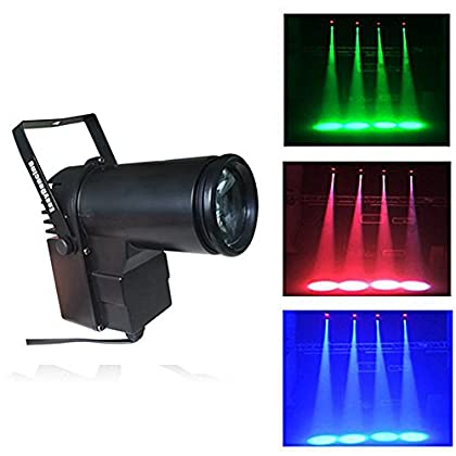 Pin Spot Beam Light 10W RGBW Led Stage Wash Spot Lights with DMX for Dance Party DJ Disco Wedding Show Home Mirror Ball…