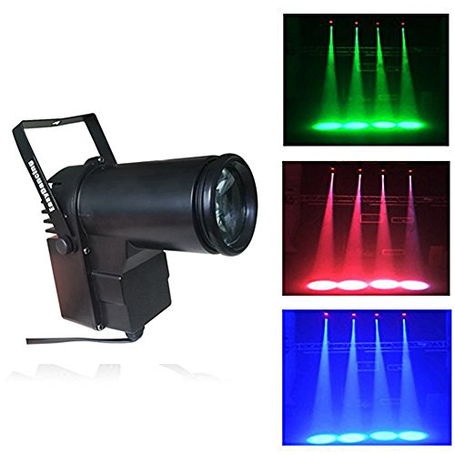 Pin Spot Beam Light 10W RGBW Led Stage Wash Spot Lights with DMX for Dance Party DJ Disco Wedding Show Home Mirror Ball (Mirror Ball Lighting)