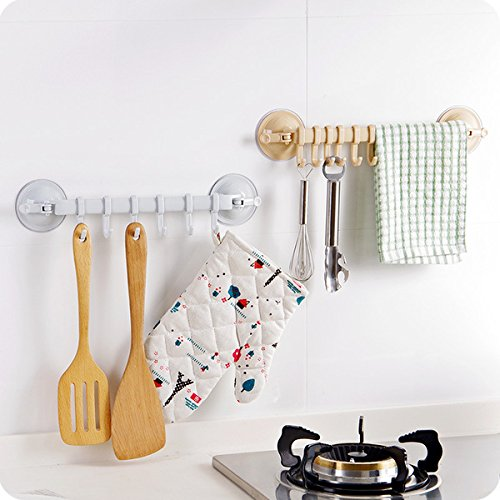 high-quality Serottini - Super Powerful Vacuum Suction Cup Hook Holder - Organizer for Towel, Bathrobe and Loofah (Green)