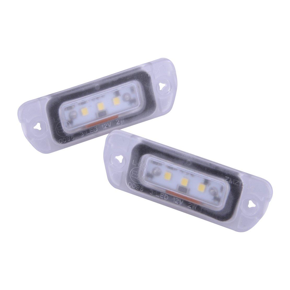 Citall 2 pcs erreur gratuit LED É clairage de plaque d'immatriculation sitao