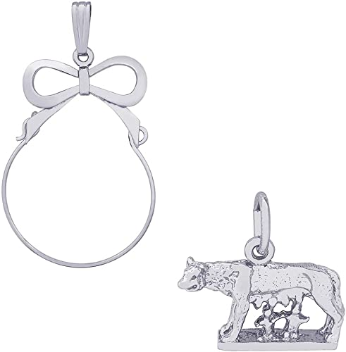 Romulus And Remus Charm Charms for Bracelets and Necklaces